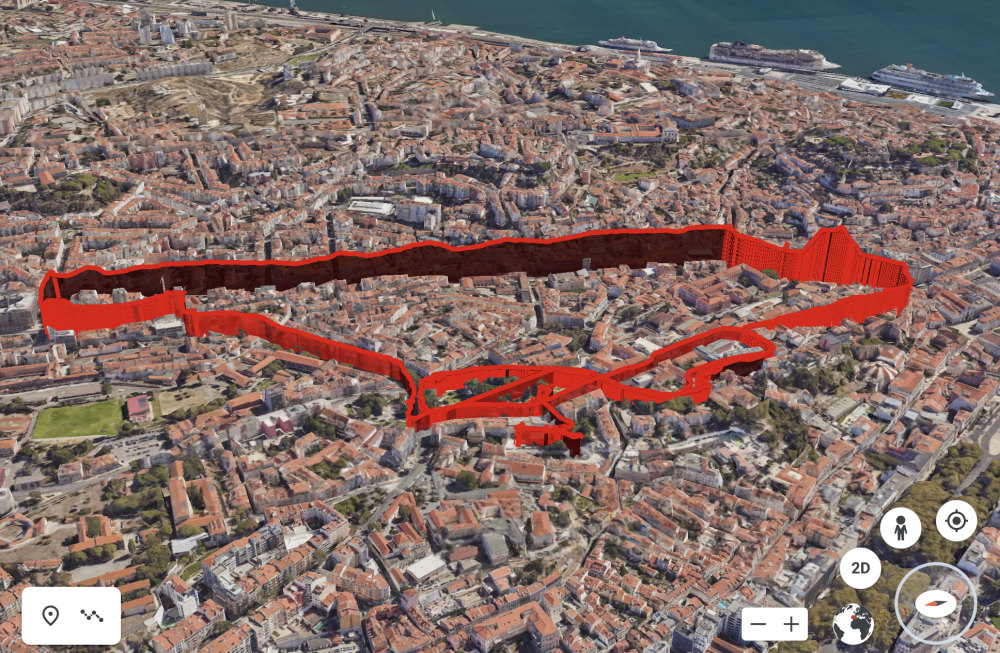 3d visualisation of air pollution in Lisbon, ride 1