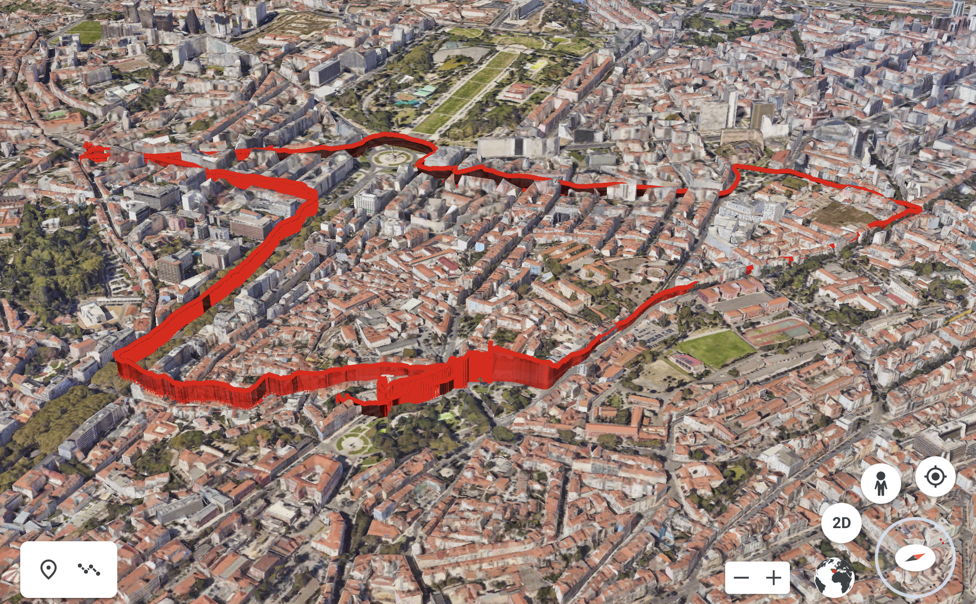 3d visualisation of air pollution in Lisbon, ride 5