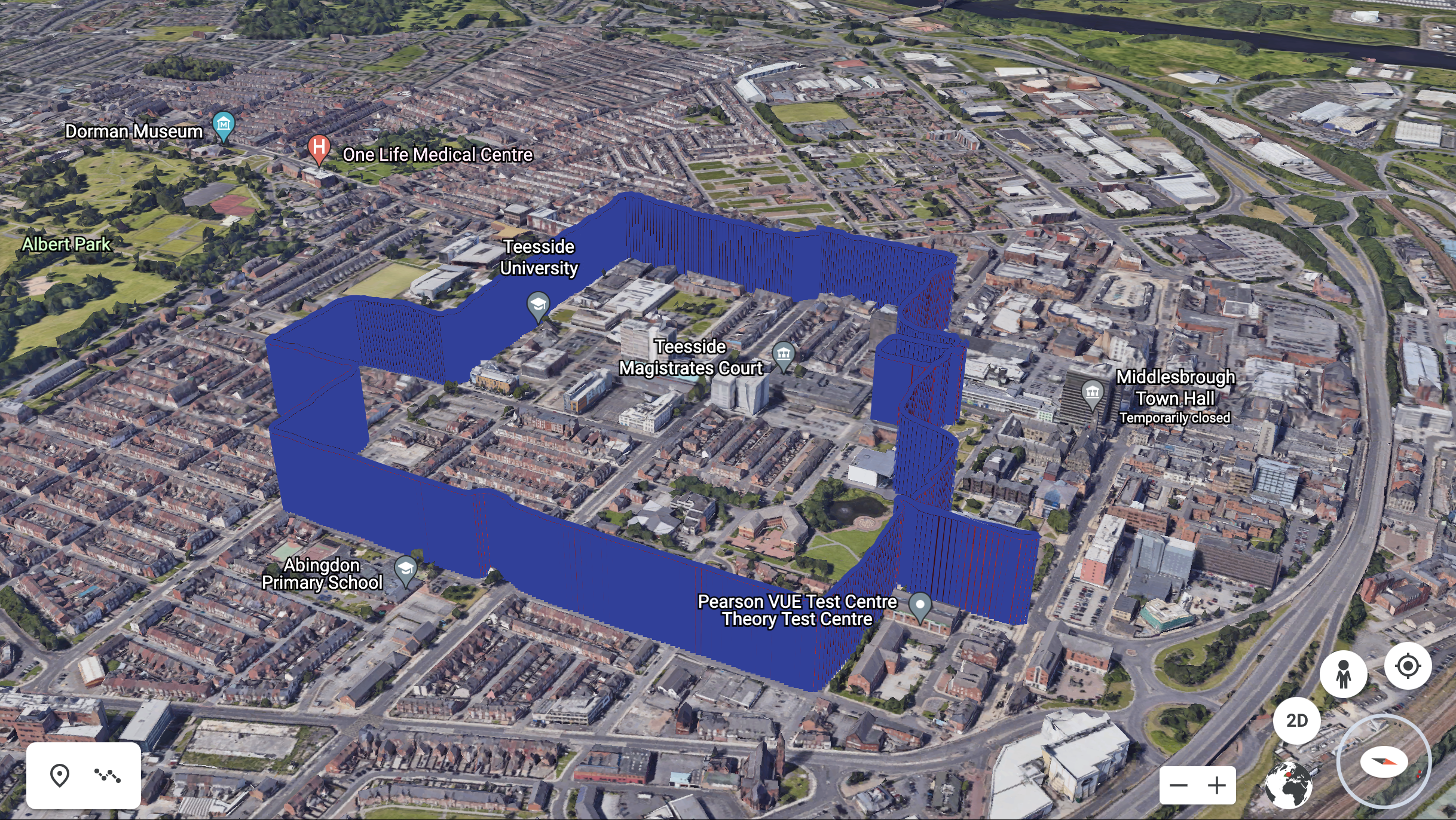air pollution traces mapped across Middlesbrough city centre
